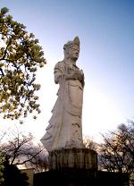 เจ้าแม่กวนอิมที่ Funaoka castle ruin park